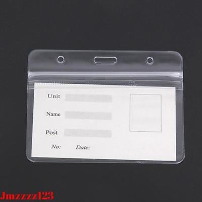 5 PCs Clear Plastic Horizontal ID Card Holder with ZIPPER ***AUSSIE SELLER*** 5