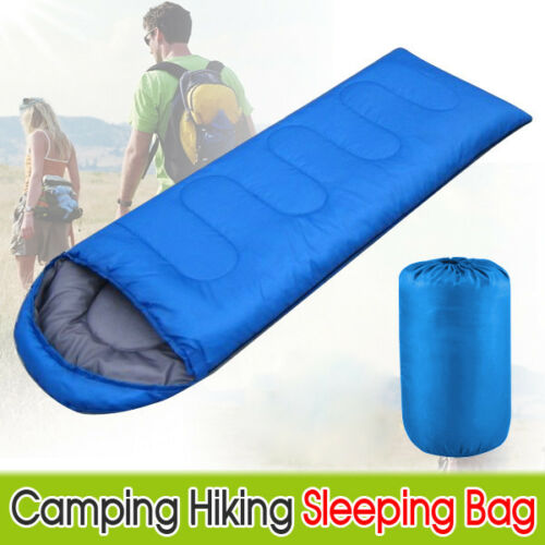 4 Season Waterproof Sleeping Bag Single Person Camping Hiking Case Envelope Zip 6