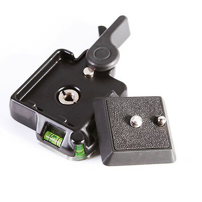 Clamp & Quick Release QR Plate For Tripod Monopod Ball Head Benro DSLR Camera 2