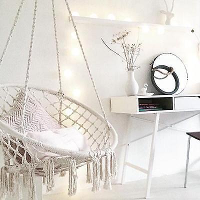 Macrame Nest Swing HAMMOCK CHAIR Relax in Luxury Comfort Handmade Black Morocco