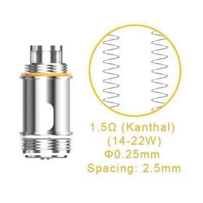 ASPIRE NAUTILUS X 1.5Ohm | 1.8Ohm COILS Genuine U-Tech Replacement Coil Heads UK 10