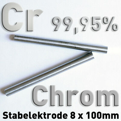 Refraktärmetalle Rund Stab 8 x 100 mm Element Probe Anode Elektrode 2