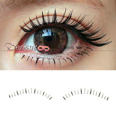 eac84d7d954 ... 10Pairs Natural Lower Bottom False Eyelashes long thin lashes with  shorter 3