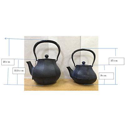 [Rare] Nanbu Tetsubin - Miyabi (S) - 0.6 Liter : Japanese blue cast iron teapot 8