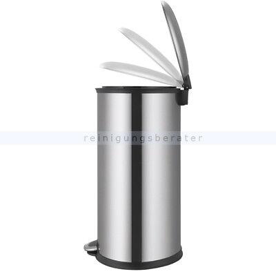 Treteimer EKO Step Bin Elipse matt Edelstahl 30 L Treteimer Abfallbehälter 2