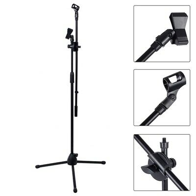 Professional Boom Microphone Mic Stand Holder Adjustable With 2 Free Clips New 5