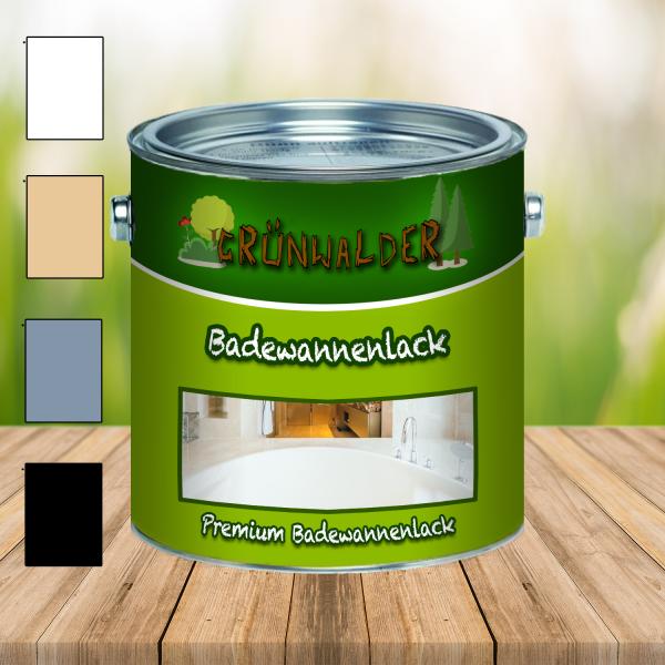 Grünwalder PREMIUM 2K Badewannenlack 2-K Badewannenbeschichtung GFK FARBAUSWAHL 3