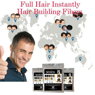 Sevich Refill Hair Fibers Keratin Building Thickening 100g Pack Fibre Loss Care 9