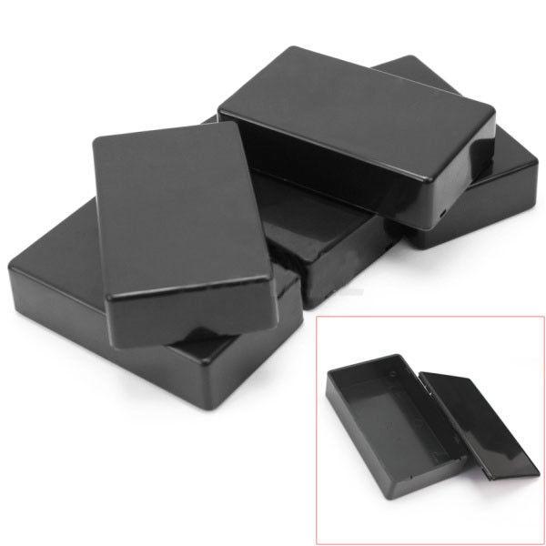 5 Pcs ABS Plastic Enclosure Box For Electronic Project Circuit Black Case DIY UK 4