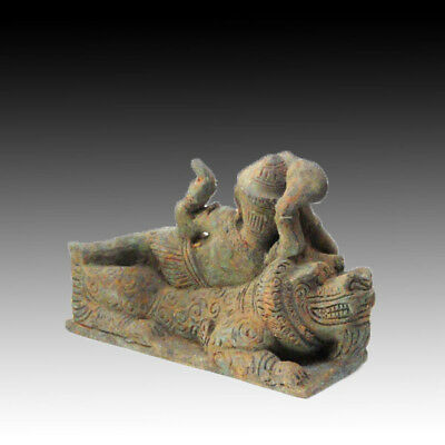 ANTIQUE BRONZE Vishnu KHMER HINDU ANGKOR Phanom Rung 'BAYON' STYLE.13th C.