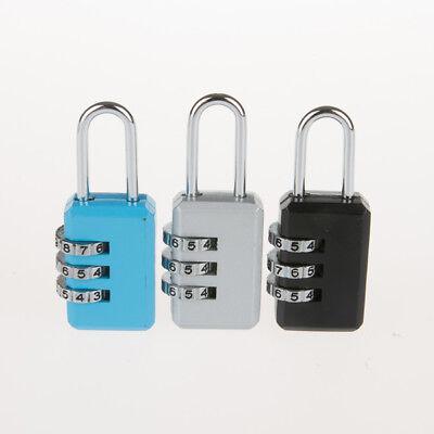 4,2,1 x Travel Luggage Locks Combination 3 Dial Code PadLock Suitcase Security 10