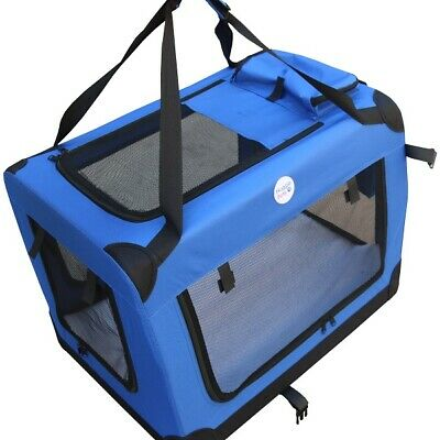 HugglePets Fabric Dog Crate Puppy Carrier - Cat Travel Cage Carry Pet Bag 4 Size 9