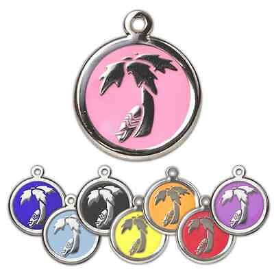 Dog Tags Engraved Pet ID Name Discs Mixture Of 26mm Design Personalised Identity