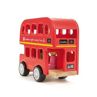 NEW Indigo Jamm Wooden Bernie's Red London Number Bus - with Passengers