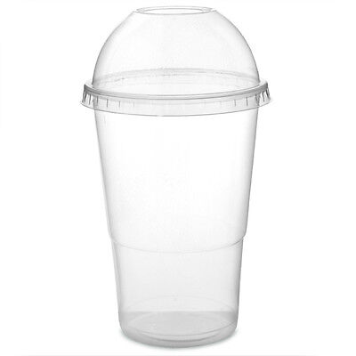 Smoothie Milkshake Plastic recyclable Cups with Dome Lids - Sweet Pots 3