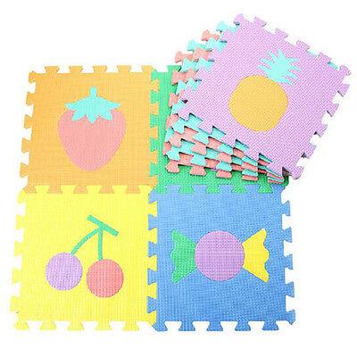 10pcsset mat puzzle carpet baby play foam flooring mat number letter animal mat 4