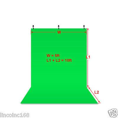 Chromakey Green Screen Muslin Backdrop for Studio Lighting Kit 3