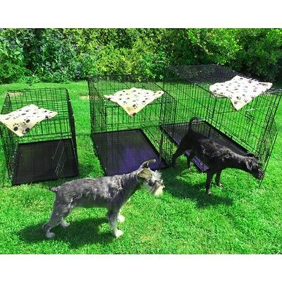 Small Medium Large XL XXL Pet Dog Cage Crate Foldable Carry Transport Carrier 2