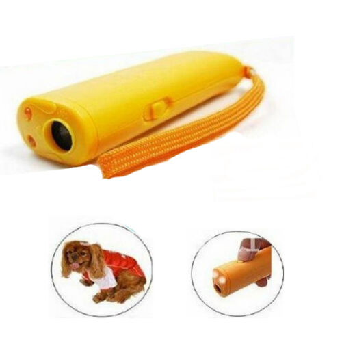 LED Ultrasonic Aggressive Dog Pet Repeller Training Aid Stop Anti Barking Device