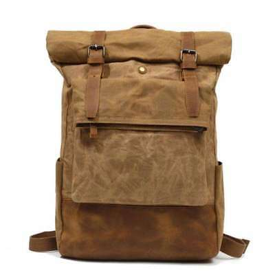 Good Quality Mens Canvas /& Leather British Style Rucksack Backpack Bag mbag1415