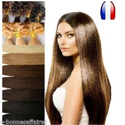 50 100 150 Extensions A Chaud A Kératine 100% Naturels Remy Hair 49-60 Cm 1G 48H 2