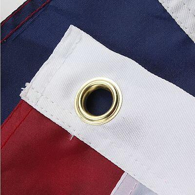 3x5 Ft Nylon American USA US Flag Sewn Stripes EMBROIDERED Stars Brass Grommets 4