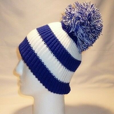 Luxury Fleece Lined Bobble Hat Beanie Mens Women Retro Football Winter Warm Pom 6