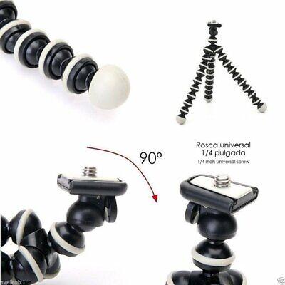 Mini Tripode Araña Flexible Para Camara + Accesorio Smartphone Camara Universal 5