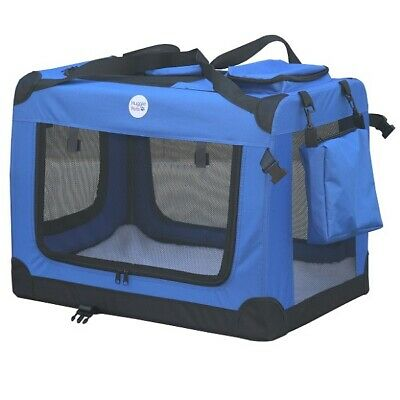 HugglePets Fabric Dog Crate Puppy Carrier - Cat Travel Cage Carry Pet Bag 4 Size 8