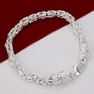 Asamo Femmes Hommes Bracelet en Argent Sterling 925 Plaqué A1089