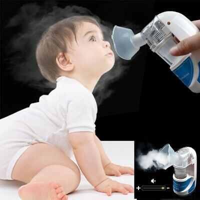 Ultraschall Inhalator Inhaliergerät Asthma Husten Inhalationsgerät Vernebler DE 4