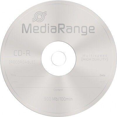 25 MediaRange Branded Blank CD-R discs 48x 100 min CD R 900MB 100 minutes MR222 2