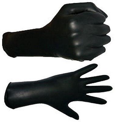 Geile Gummi Latex Rubber Handschuhe Gr. L Krallen black & Swaroviski Edelsteinen