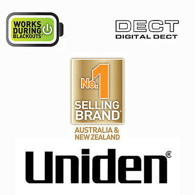 UNIDEN DECT 1635+2 DIGITAL PHONE SYSTEM WITH POWER FAILURE BACKUP Wi-Fi FRIENDLY