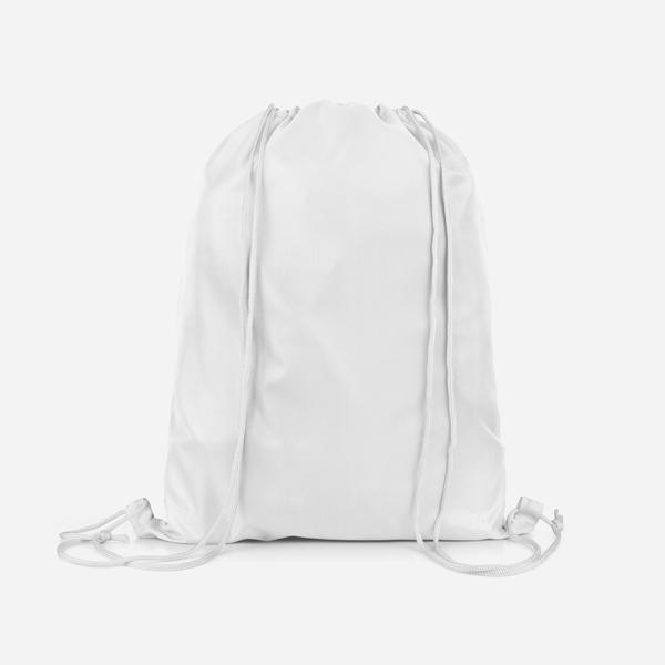 Personalised Bunny Rabbit Background Kids Sports Swimming School Drawstring Bag