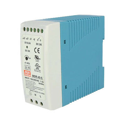 MeanWell EDR-75-48 75 W 48 VDC//1.6 A Bloc D/'AlimentAtion DIN Rail Mounted 000069