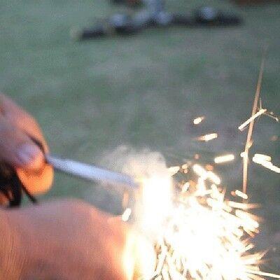 1X Magnesium Flint Stein Feuer Starter Feuerzeug überleben Ausrüstung am besten 4