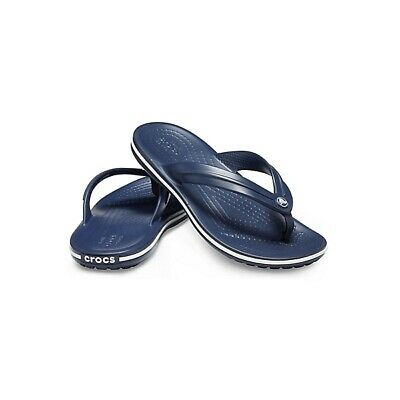 Crocs 205778 CROCBAND FLIP Kids Girls Boys Flip Flops Toe Post Sandals Navy 2