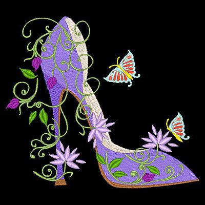 Fashionista Shoes - 30 Machine Embroidery Designs (Azeb) 2