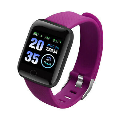 116Plus Smart Watch Bluetooth Heart Rate Blood Pressure Monitor Fitness Tracker 6