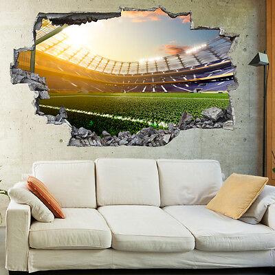 Football Stadium Derby 3D Wall Sticker Mural Decal Kids Bedroom Home Decor BV27