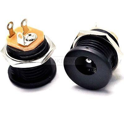 2x Waterproof 5.5x2.5mm DC Power Supply Female Jack Socket Panel Mount Connect,.