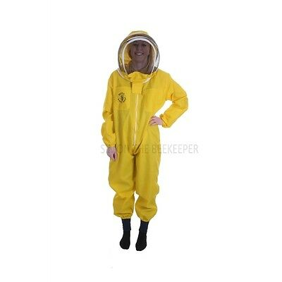 "BUZZ BASIC Yellow Beekeeping Suit with Fencing Veil and Round Veil *All Sizes"" 3"