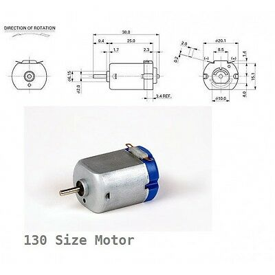 Reversible 130 Hobby Dc Motor 1 6 Volt Available In Uk