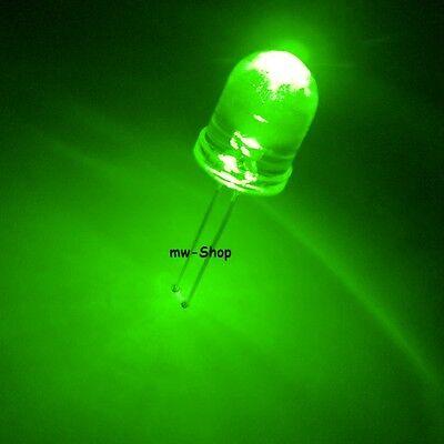 10 Superhelle GRÜNE Leds 10mm 28000 mcd led grün
