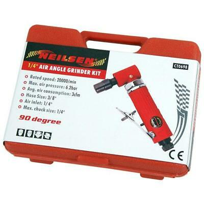 """15 Piece ¼"""" Air Angle Die Grinder Kit with Grinding Stones + Case 3"""