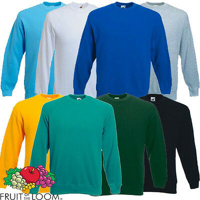 Fruit of the Loom Childrens Kids Sweatshirt New Sweat Jumper Age 3-4 up to 12-13 2