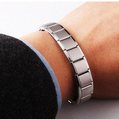 Homme Bracelet Magnétique En Titane Argent Bio Thérapie Arthrite Santé
