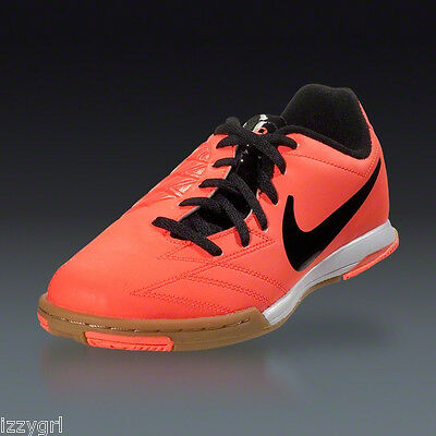 0bc05c91d95 ... NEW Nike TOTAL 90 SHOOT IV IC INDOOR SOCCER Football SHOES MANGO BLACK  US 7M