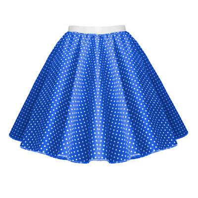 GIRLS CHILD 1950s Rock n Roll Polka Dot Dance Skirt Fancy Dress GREASE Costume 7